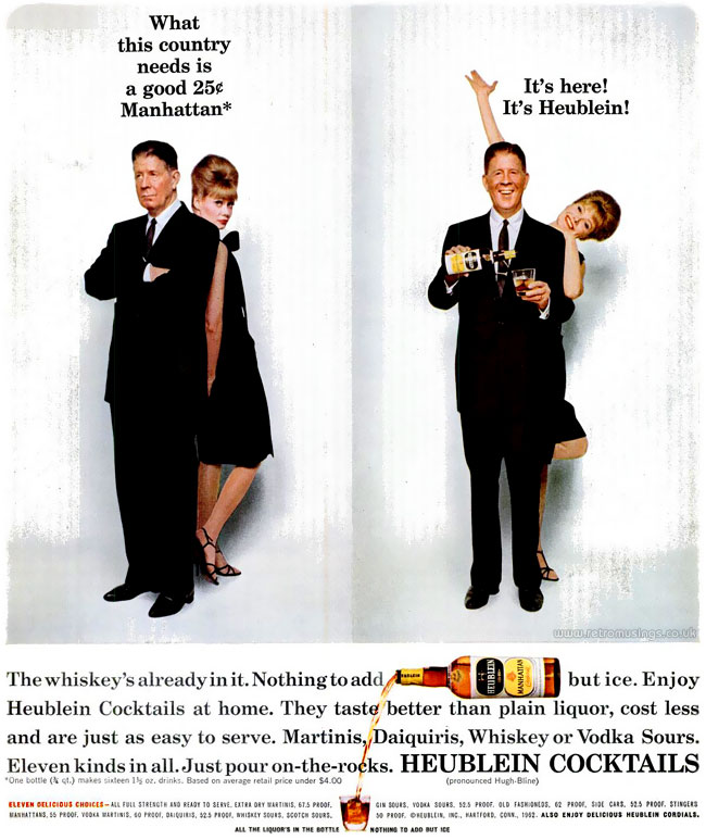 "Cocktail Adverts [1961-1963] ""Bored And Happy"
