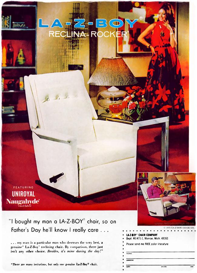 La Z Boy Chairs Adverts 1970 S Retro Musings