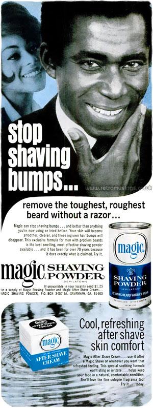 Magic Shaving Powder Shaving Adverts 1964 1981 Retro Musings