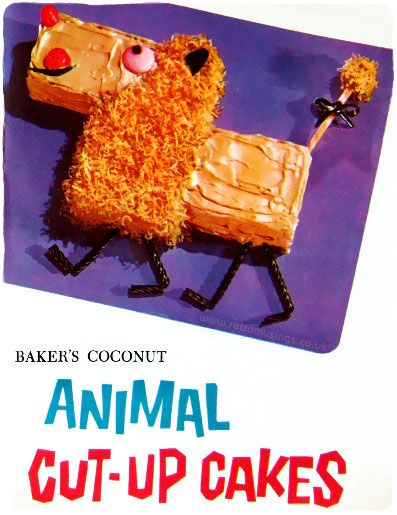 Baker S Coconut Animal Cut Up Cakes