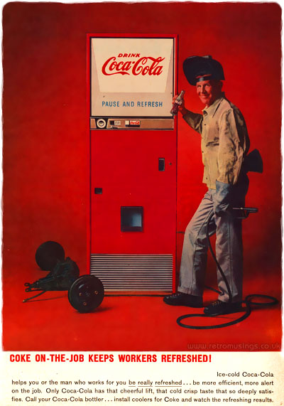 Only Sparkling Coca Cola Has That Cheerful Lift Cold Crisp Taste So Deeply Satisfies Call Your Bottler Install Coolers For Coke And