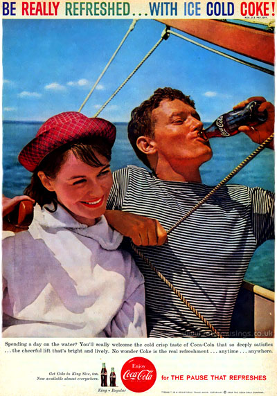 Coca Cola Soda Adverts 1959 1960 Be Really Refreshed