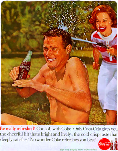 "Coca Cola ~ Soda Adverts [1959-1960] ""Be Really Refreshed!"" 