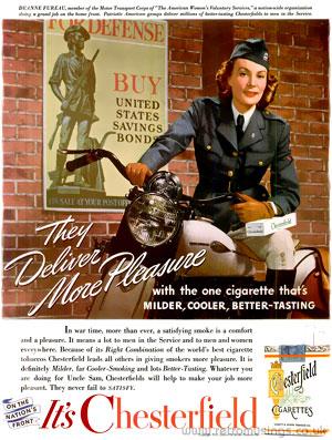 Chesterfield Cigarette Adverts 1942 1945 Retro Musings