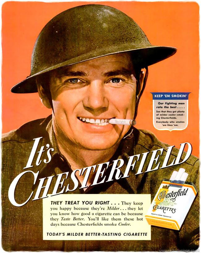 Chesterfield ~ Cigarette Adverts [1942-1945] – Retro Musings