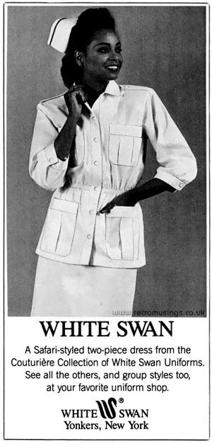 White Swan Uniforms Adverts 1971 1988 Retro Musings
