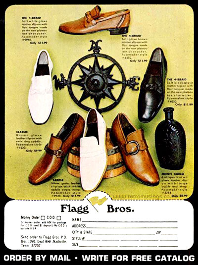 12fb7dbee8e These ads for Flagg Bros men s shoes date from 1966-72.