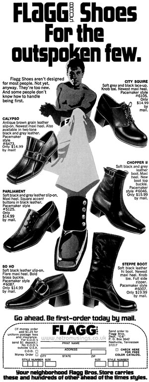 f3fbfcc8b98 Flagg Bros ~ Men s Shoe Adverts  1966-1972