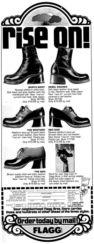 34df558efe4 Flagg Bros ~ Men s Shoe Adverts  1966-1972