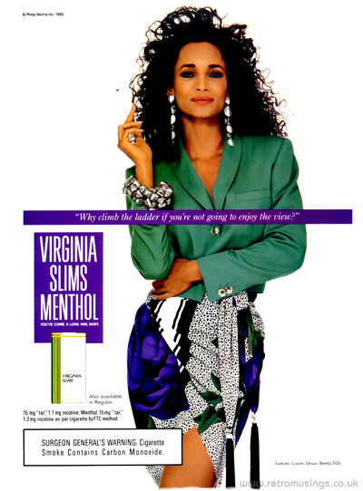 Virginia Slims 1990 1994 Cigarette Adverts Retro Musings