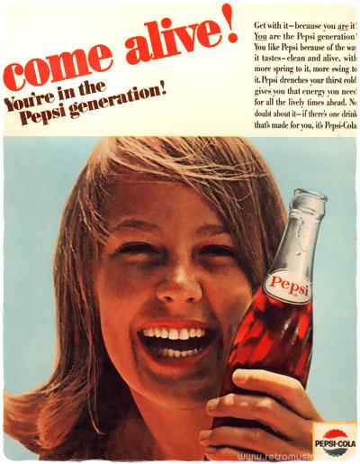Resultado de imagen para pepsi generation 1950 ad