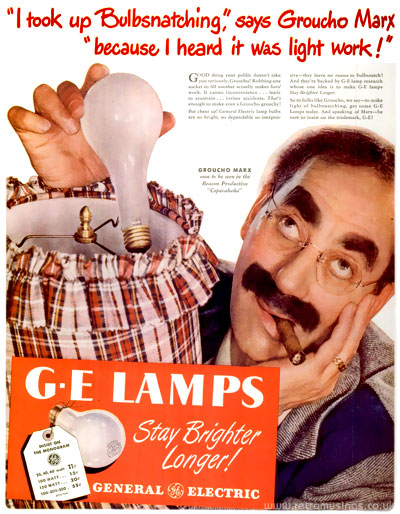 General Electric U201cG.E Lampsu201d ~ Lighting Adverts [1946 1947]