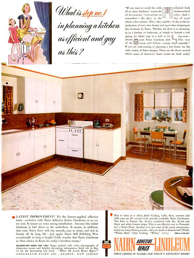1941 nairn linoleum   flooring adverts  1940 1941   u2013 retro musings  rh   ghostofthedoll co uk