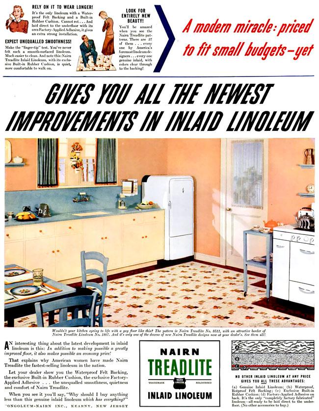 1940 nairn linoleum   flooring adverts  1940 1941   u2013 retro musings  rh   ghostofthedoll co uk