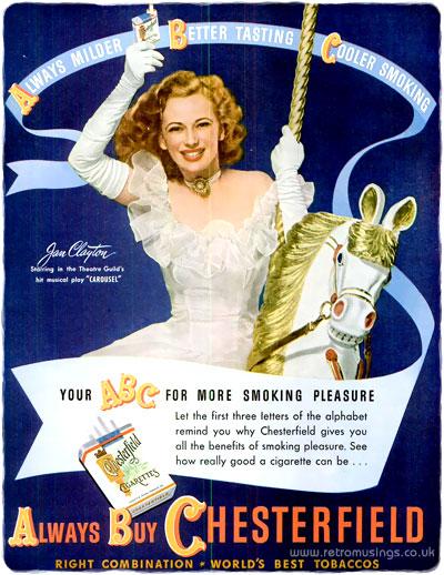 Chesterfield ABC Cigarette Adverts 1945 1950 Retro Musings