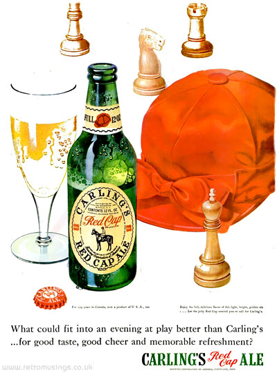 "Carling ""Red Cap"" ~ Ale Adverts [1948-1949] Illustrated by L M"