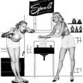 Spun-lo ~ Lingerie Adverts [1951-1952] Illustrated