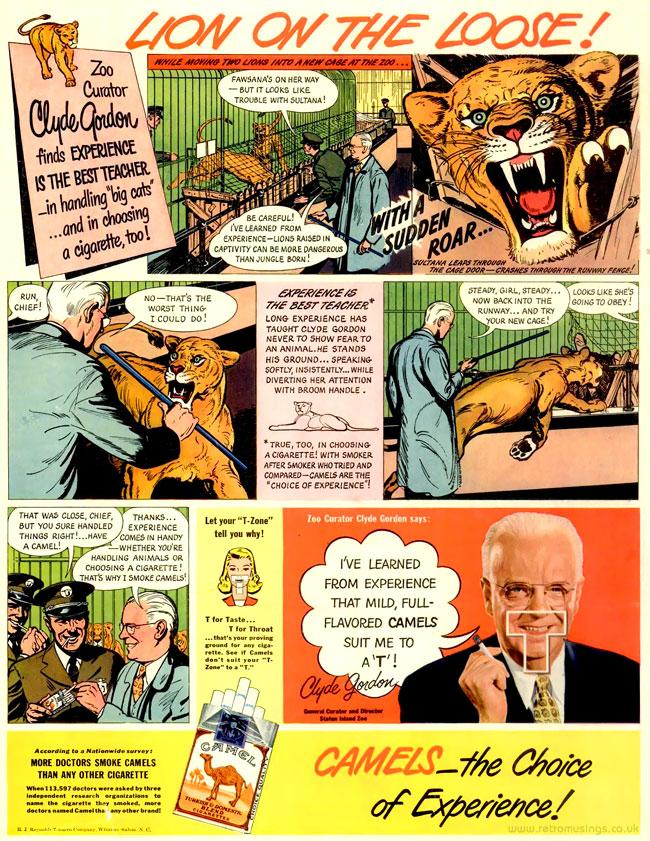 Camel [1937-1948] Cigarette Adverts ~ Comic Strips | Retro